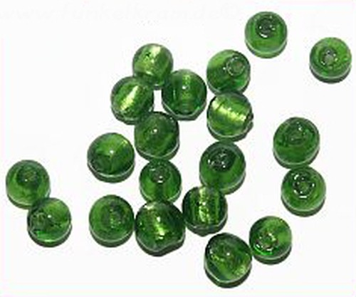 Silverfoil-Perlen, grasgrün ( Nr. 11 ) 10mm
