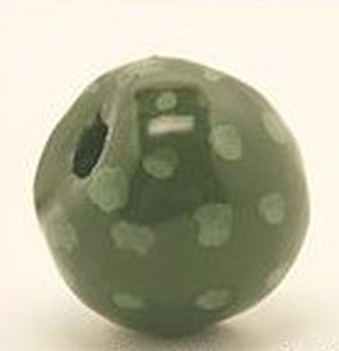Keramikperle Katika ca. 18mm moos