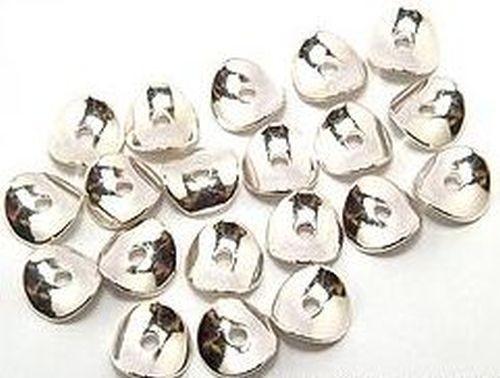 gebogene Metallscheiben glatt ca. 10mm hellsilberfarben 20Stk