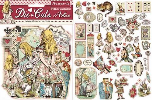 Stamperia Die Cuts Alice 62-teilig
