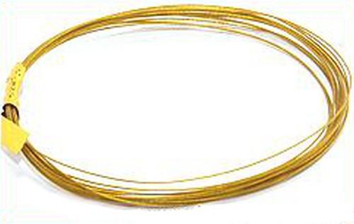Schmuckdraht nylonummantelt 0,38mm goldfarben, 2,5m