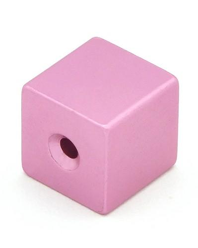 Loxalu® Beads Würfel ca. 8 x 8mm rosa 1Stk