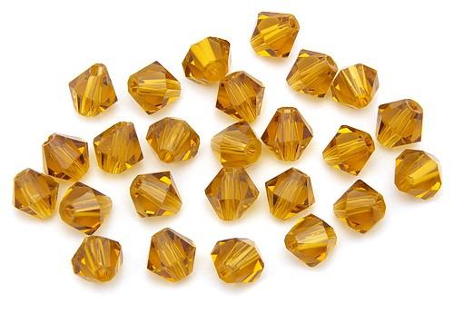 Bicone Glasschliffperlen ca. 6mm bernstein