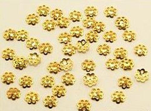 Perlkappen Jugendstil goldfarben ca. 6mm 50Stk