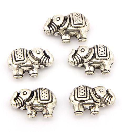 Metallperlen Elefant ca. 13 x 8 x 5mm altsilberfarben 5Stk
