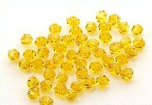 Bicone Glasschliffperlen ca. 4mm topaz