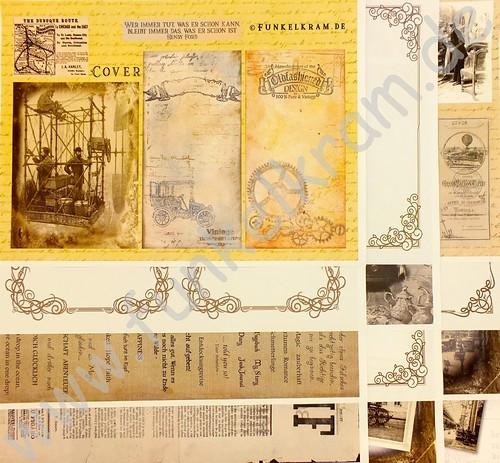JunkJournal Papierset Time Traveller 1 Stk