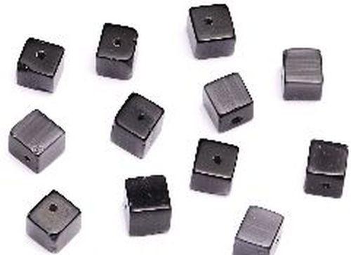 Cateyewürfel ca. 8mm (Nr. dx07) schwarz