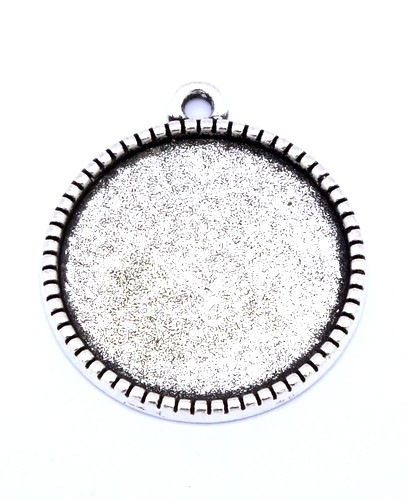Medaillon - Rohling LEO ca. 22mm altsilberfarben 1Stk