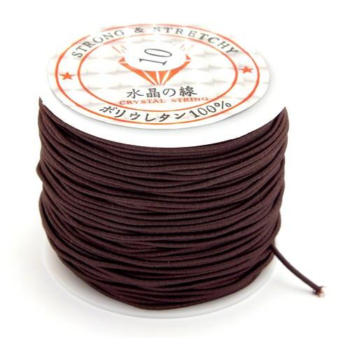 Elastikband Nylon ca. 1mm braun 23m 1Stk