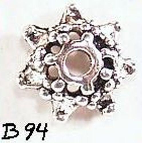 Perlkappen B94 altsilberfarben 20Stk