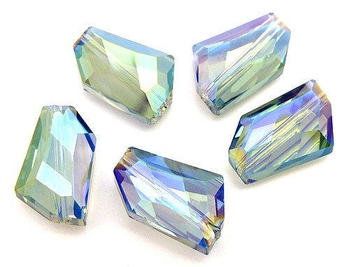Glasschliff Trapez ca. 12 x 18mm blaugrau