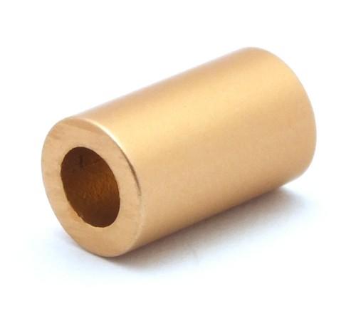 Loxalu® Beads Röhrchen ca. 10 x 6mm altgoldfarben