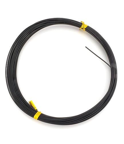Veloursband ca 3mm breit schwarz 1m
