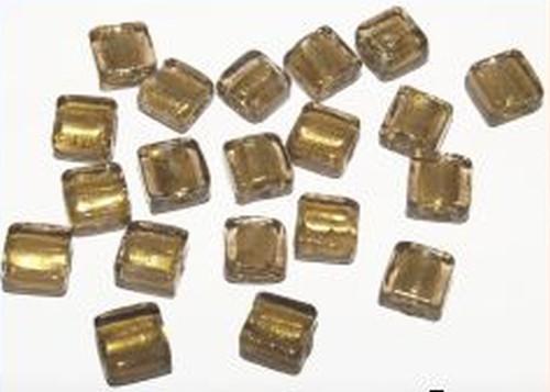 Silverfoil-Quadrate, rauchgold 10x10x5mm