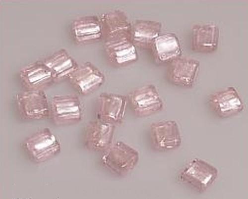 Silverfoil-Quadrate, rosa ( Nr. 14 ) 10x10x5mm