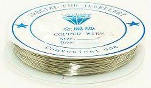 Bouillondraht 0,2mm silberfarben auf Spule 70m