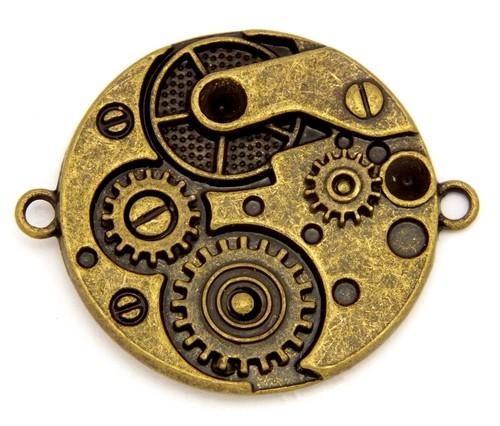 Steampunk Uhrwerk U1 ca. 36 x 30mm antikfarben 1Stk