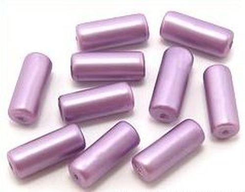 Glaswalzen ca. 6 x 15mm lila