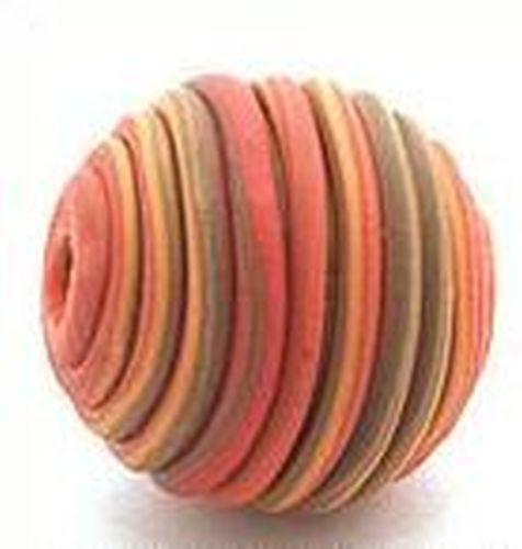 Papillon-Perle Wrappy ca. 14mm orange-braun 1Stk