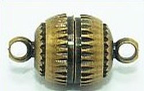 Magnetverschlüsse geriffelt groß ca. 8mm antikfarben