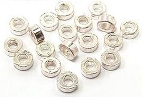 Metalldonuts ca. 6mm hellsilberfarben 20Stk