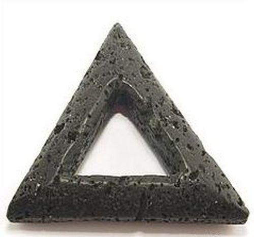 Anhänger Lava Dreieck ca. 35mm 1Stk