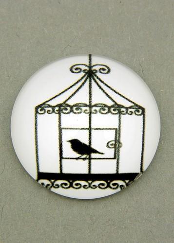schwarz-weiß Cabochon Käfig E ca. 20mm 1Stk