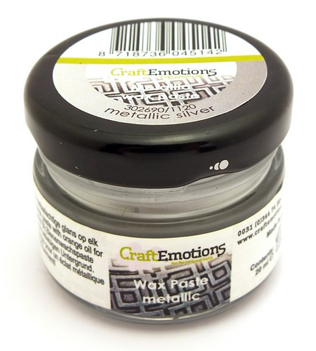 Craft Emotions Gilding Wax silberfarben 20ml 1Stk