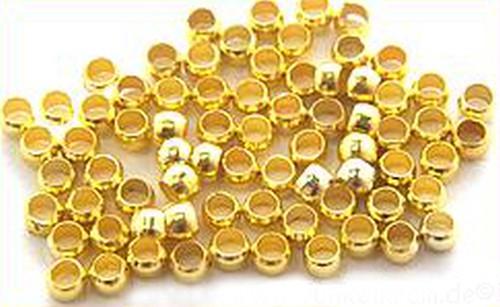 Quetschperlen 2,5 mm goldfarben