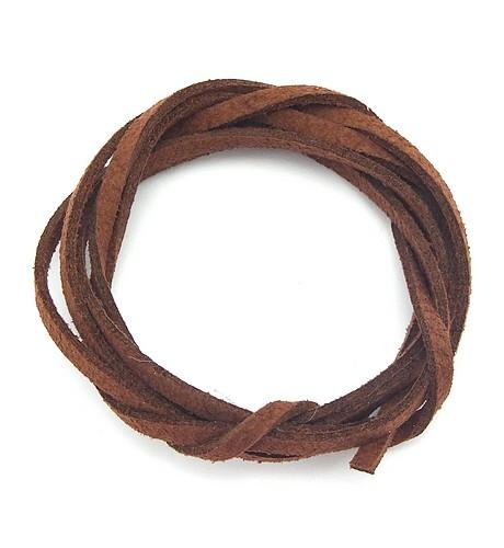 Veloursband ca. 3mm breit hellbraun 1m