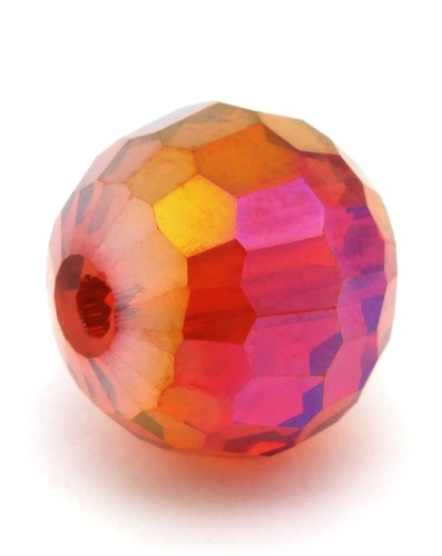 Glasschliffperle ca. 12mm rot AB