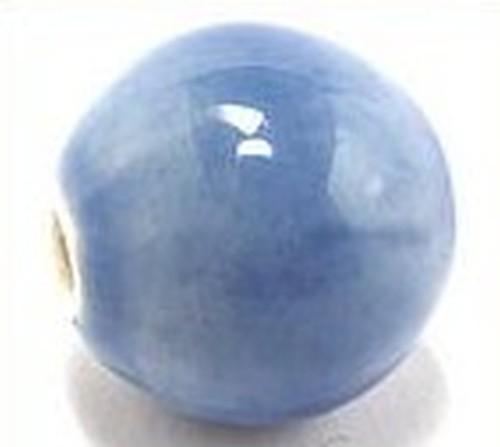 Keramikperle Pasipo ca. 18mm himmelblau