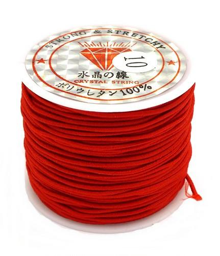 Elastikband Nylon ca. 1mm rot 23m 1Stk
