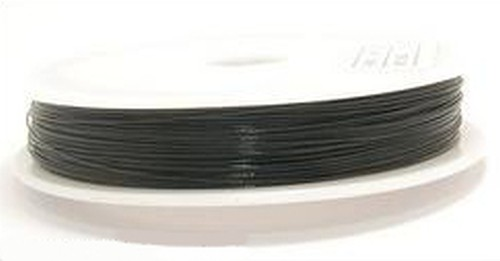 Schmuckdraht nylonummantelt 0,45mm Schwarz 100m
