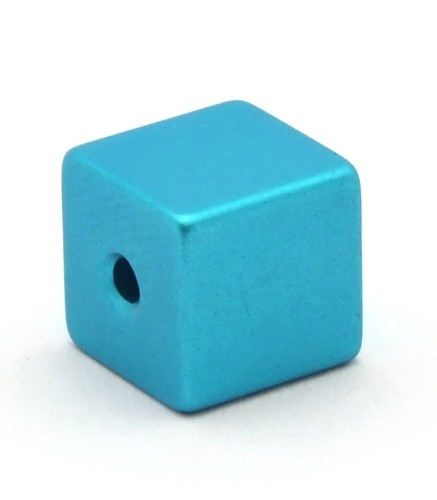 Loxalu® Beads Würfel ca. 8 x 8mm türkis