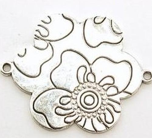 Metallanhänger Flower Power