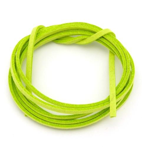 Veloursband ca. 3mm breit grün 1m