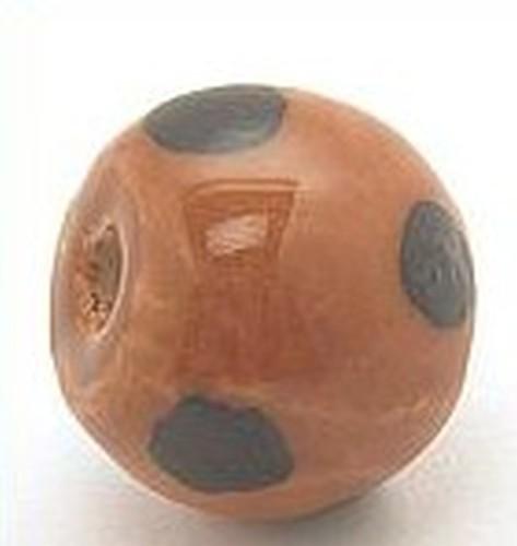 Keramikperle Kikubwa ca. 18mm camel dark 1Stk