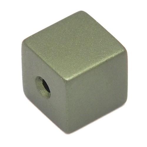 Loxalu® Beads Würfel ca. 8 x 8mm khaki 1Stk