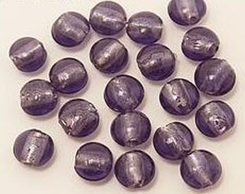 Silverfoil-Münzen, pflaume( #44 ) ca. 12mm