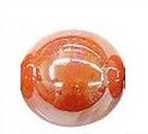 Keramikperle Karibu ca. 18mm papaya 1Stk