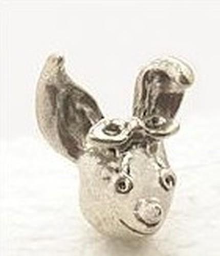 Angsthasen-Kopf Bunnygirl ca. 21 x 17 x 13mm altsilberfarben 1Stk