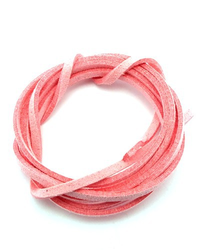 Veloursband ca. 3mm breit rosa 1m