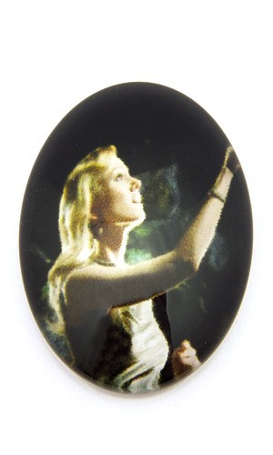 Burlesque Cabochon X oval ca. 25 x 18mm 1Stk