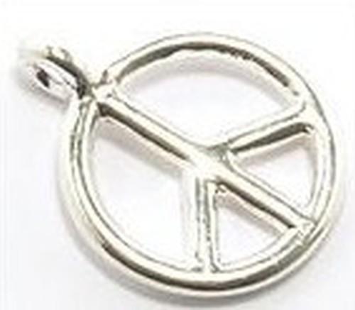 Metallanhänger Peace ca. 19 x 15mm silberfarben