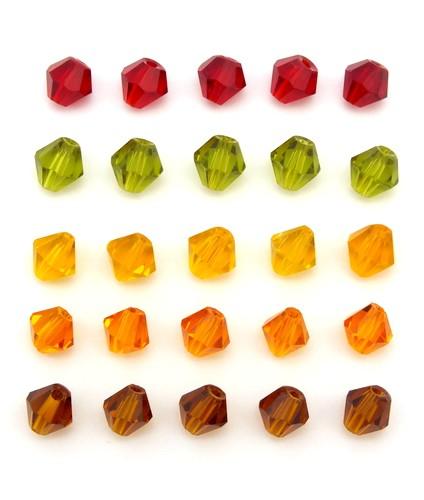 Bicone-Mix warme Farben ca. 6mm