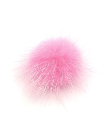 Fellpuschel ca. 25 - 30mm pink 1Stk