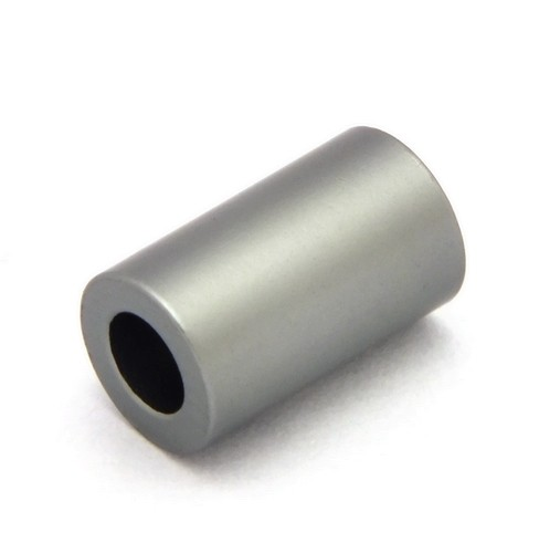 Loxalu® Beads Röhrchen ca. 10 x 6mm anthrazit