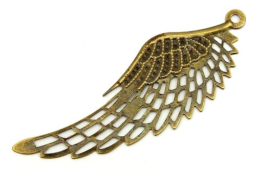 Steampunk Filigree Angel Wing ca. 70mm antikfarben